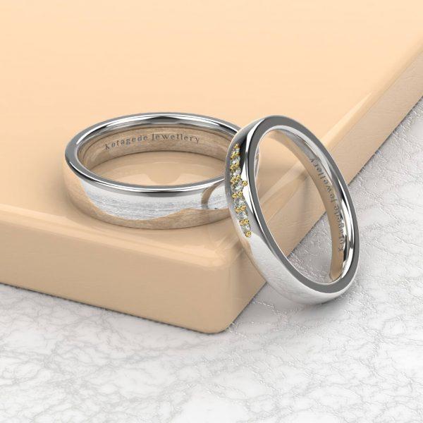 Cincin Kawin Tunangan Couple Simple PTD0389WG