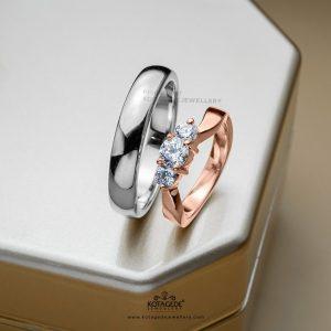 Cincin Kawin Tunangan Elegan Platidium Rosegeold PTD0388RG