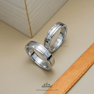 Cincin Kawin Tunangan Platidium Couple Simpel PTD0397PTD