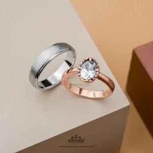 Cincin Kawin Tunangan Platidium Rosegold Solitaire PTD0399RG