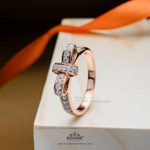 Cincin Kawin Tunangan Sparkle Ribbon RG0390