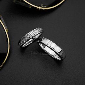Cincin Kawin Tunangan Platidium Emas Putih PTD0427WG