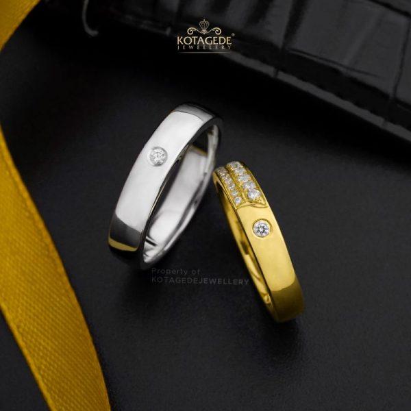 Cincin Kawin Tunangan Platidium Emas Kuning PTD0434YG